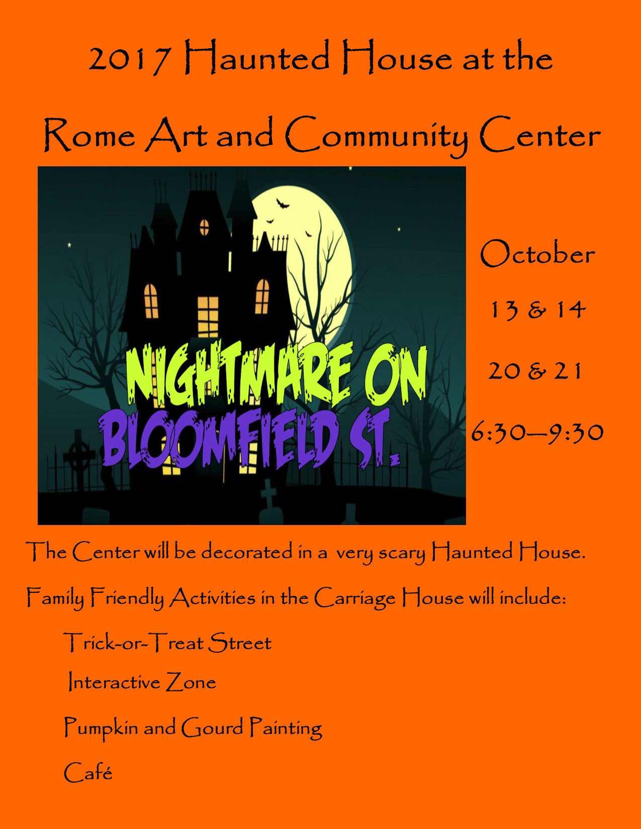 halloween returns to the rome art and community center